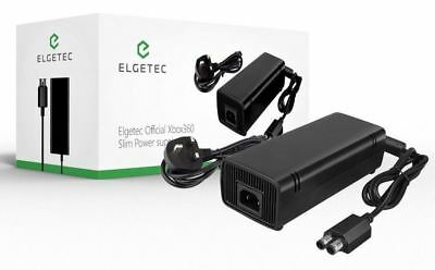 Official Elgetec Xbox360 Slim Power Supply AC Brick Adapter UK Mains Charger