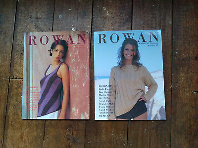 2 rowan knitting magazines no 27 and no 23 excellent condition