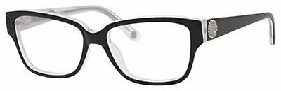 5a4dac2526f Juicy Couture Plastic Rectangular Eyeglasses 52 0JRS Black White Crystal