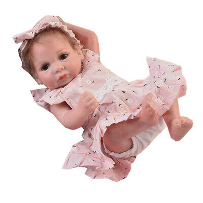 10-11inch Reborn Baby Clothes Baby Doll Dress Headband Underpants Full Set