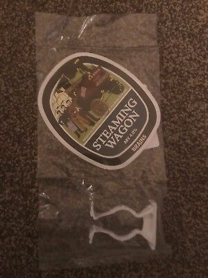 Brains Steaming Wagon Beer Pump Clip Breweriana Brand New Free Fast P+P