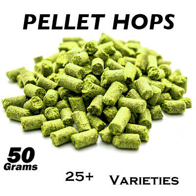 50g Pellet Hops AUS US Euro & N.Z Varieties Home Brewing Beer  FP