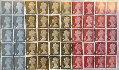 50 x 1st Class Unfranked Stamps off Paper WITH ORIGINAL GUM Easy Peel