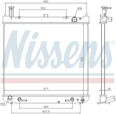 NISSENS Engine Coolant Radiator - 646947 (3 Year Guarantee)