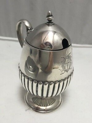 Mustard Pot Sterling Silver Black Starr Frost Beautifully Monogrammed