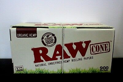 RAW Organic 1 1/4 Size Pre Rolled Cones 900 Count~Factory Box~Amazing Deal
