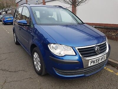 Vw Touran S 1.9Tdi 2009 59 105Bhp Blue 7 Seats