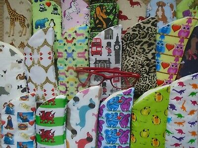 Glasses Cases Fabric*Over 40 Designs!*Lined & Padded Vision Case Regular Size