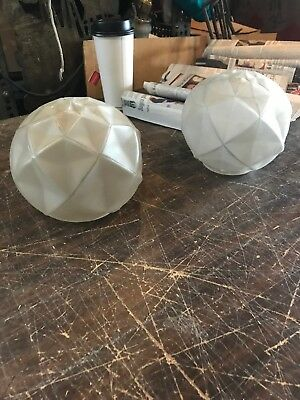 Fla 124 2 Av  Price Each Antique French art deco round glass shades for light