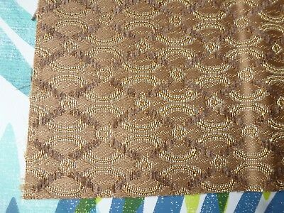 Vintage Radio Speaker Grill Cloth Dark Beige Gold - 28cm x 25cm (G) Grundig Bush