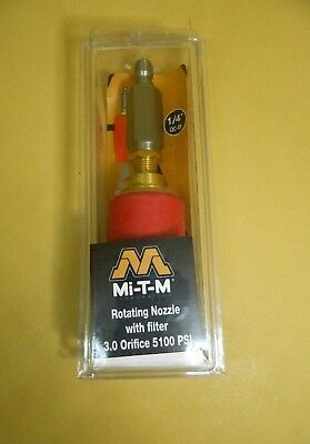 MI-T-M Rotating Nozzle with Filter 3.0 oriffice 5100 PSI  AW-7510-0003