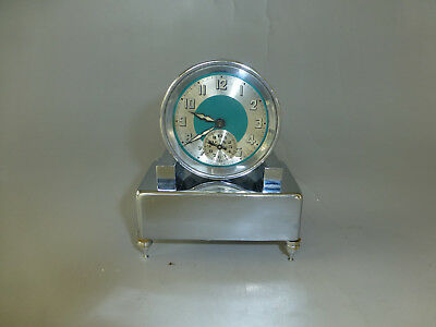 Rare Antique French Musical Alarm Mechanical Wind Up Clock (Watch The Video)