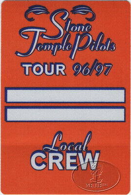 STONE TEMPLE Pilots 1996 Backstage Pass Crew Orange