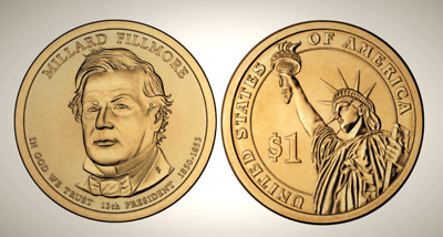 2010 P Millard Fillmore Presidential Series Dollar UNC MS Uncirculated!!