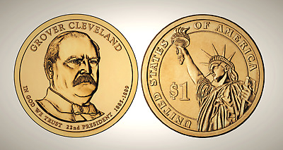 2012 P Grover Cleveland 1st Term Presidential Series Dollar UNC MS Uncirculated!