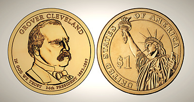 2012 D Grover Cleveland 2nd Term Presidential Series Dollar UNC MS Uncirculated!