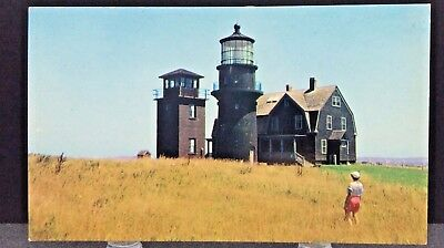 Postcard~Martha's Vineyard, Massachusetts ~Gay Head Lighthouse~c1965~Unposted