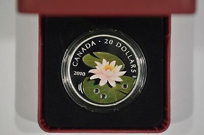 2010 Canada $20 Fine Silver Coin - Water Lily 108405