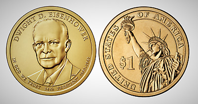 2015 D Dwight D Eisenhower Presidential Series Dollar UNC MS Uncirculated!!
