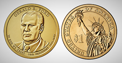 2016 P Gerald R Ford Presidential Series Dollar UNC MS Brilliant Uncirculated!!
