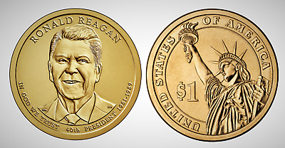 2016 P Ronald Reagan Presidential Series Dollar UNC MS Brilliant Uncirculated!