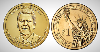 2016 D Ronald Reagan Presidential Series Dollar UNC MS Brilliant Uncirculated!