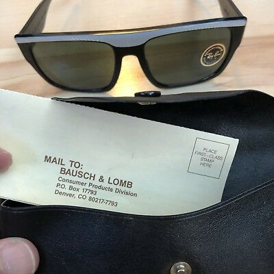 2bbe4bc35b VINTAGE RAY BAN BAUSCH   LOMB Black w  Pearl top DRIFTER Brand New ...