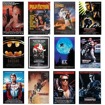 80's 90's Movie Art Posters MANY SIZES Glossy Bedroom A0 A1 A2 A4 Film Retro
