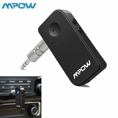 MPOW Wireless Bluetooth 3.5mm Car Aux Audio Stereo Music Receiver Adapter/Mic AU