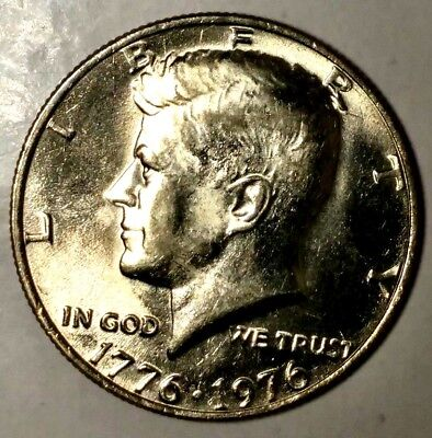 "1976-P 50C Kennedy Half Dollar d1716rr BU Clad  ""Only 50 Cents for Shipping"""