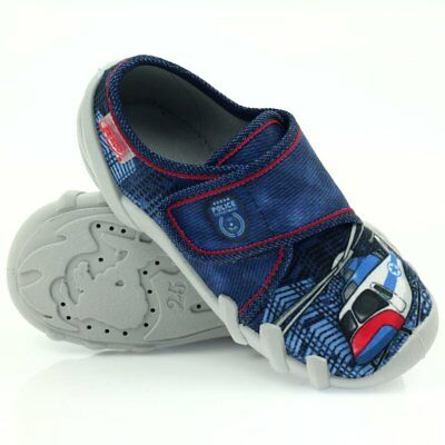 BEFADO boys canvas shoes nursery slippers trainers NEW size 8 UK Infant