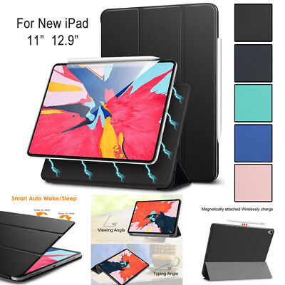 """For iPad Pro 12.9"""" 11"""" 2018 Magnetic Smart Case with Apple Pencil Charging Cover"""