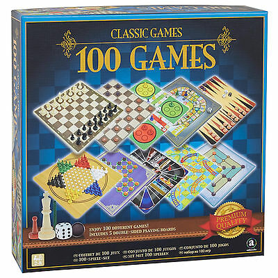 Chess Game Board 100 Classic Games Backgammon Snakes Ladders Checkers 2-6Players