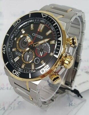 Citizen Eco-Drive CA4258-87E Brycen Men's 46mm Two-Tone S/Steel Chrono Watch NWT