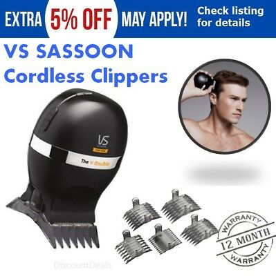 VS Sassoon Men Hair Clippers Cordless Electric Rechargeable Crew Cut DIY Haircut