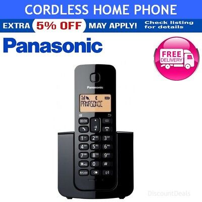 Panasonic Home Phone Cordless DECT Rechargeable Wireless Indoor House Phone