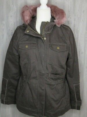 7f5c886e8ba UGG CONVERTIBLE FIELD Parka With Toscana Shearling Trim Black -Size ...