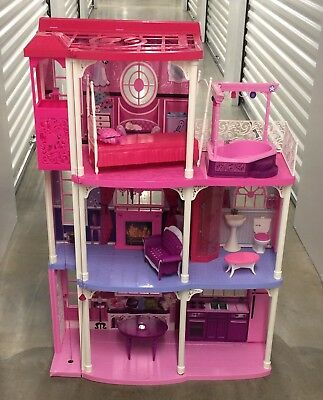 Mattel Barbie Pink 3 Story Dream House 59 Pieces Townhouse