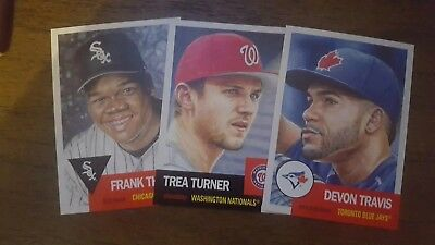 2018 2019 Topps Living Set Frank Thomas Trea Turner Devon Travis 133 134 135