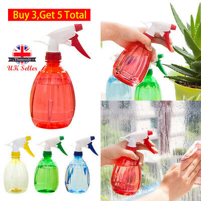 Empty Plastic Spray Bottle 500ML For Watering Cleanning Garden Sprayer 5 Colors
