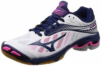 2475de5b62 Mizuno Volleyball Shoes Wave Lightning Z4 White x Navy x Pink 25.0 cm US 7.0