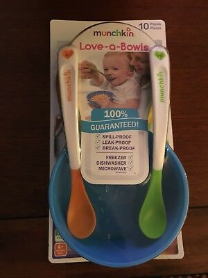Bowls & Plates Cups, Dishes & Utensils Munchkin Love-a-bowls Baby Feeding Accessory Bnip