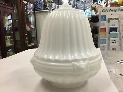 Original Art Deco Shade Glass Empire Stepped Lamp Light Diana Mottled Victorian