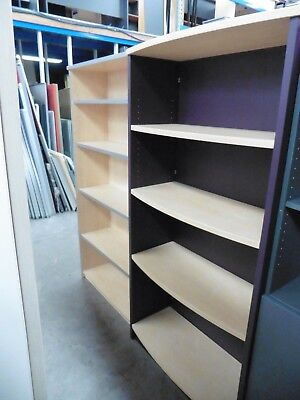 Office 1800 Bookcase Light Beech / Purple Brisbane