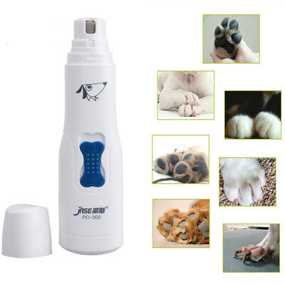 Electric Dog Cat Nail Grinder Trimmer Portable Pet Claw Grooming Clipper Tools