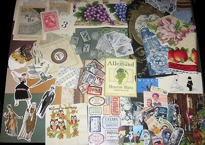 230pcs!SAMPLER~Mixed Media/Altered Art/Collage Craft Lot~Vtg Ephemera,Old Paper+
