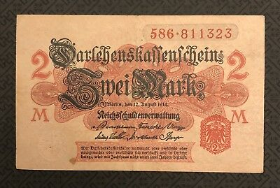 GERMANY (German Empire) 2 Mark, 1914, P-54, World Currency