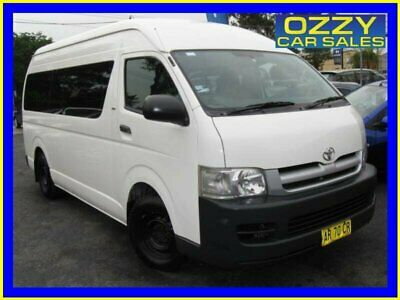 2007 Toyota HiAce TRH223R MY07 Commuter White Automatic 4sp A Bus