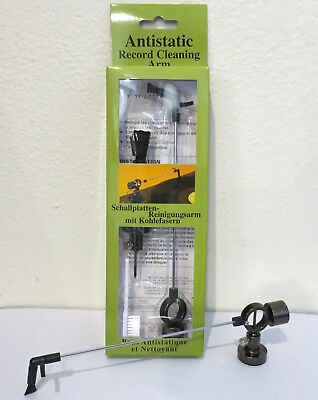 Anti-Static Record Cleaning Arm & Stylus Brush Vinyl Dust Removal NEW