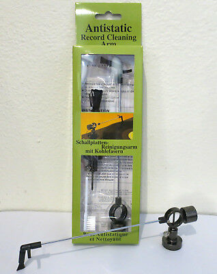 Anti-Static Record Cleaning Arm and Stylus Brush (Vinyl Dust Removal) NEW